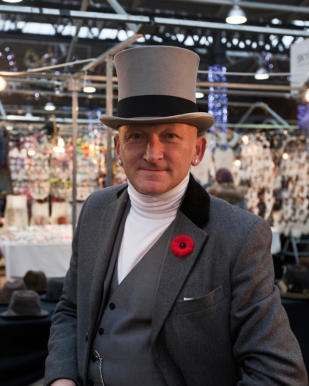 Colin Rosie, The Hat Seller, Spittalfields Market, London